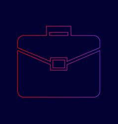 briefcase sign line icon vector image vector image