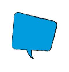 bubble speak dialog talk comic vector image