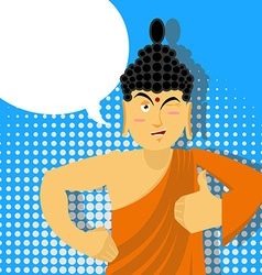 Buddha Thumbs up in pop art style Indian god Sign vector image vector image