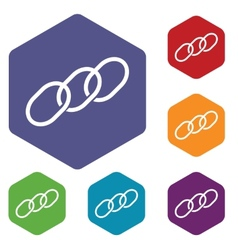 Chain rhombus icons vector image
