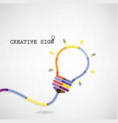 Creative light bulb idea concept background vector