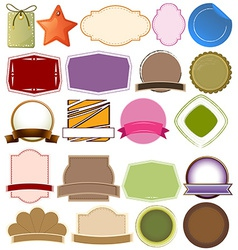 Different empty templates vector image