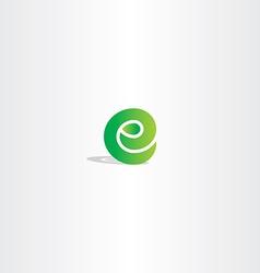 Eco green letter e logo sign element logotype vector