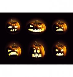 evil pumpkins vector image vector image