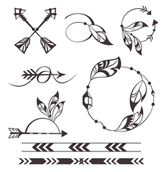 Feather and arrows vector