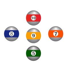five balls vector image