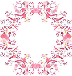 Foliate border with roses blossom vector image vector image