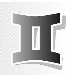 Gemini sign new year blackish icon on vector