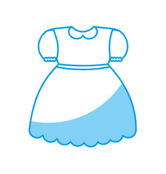 Girl dress icon vector