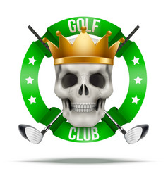Golf club or team badges and labels logo vector image vector image