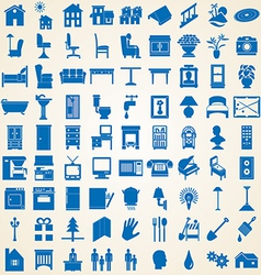 Household interior icons vector