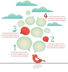 infographics of bird on a wire vector image vector image