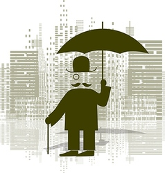 Man with an umbrella vector image vector image