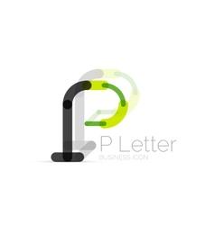 Minimal P font or letter logo design vector image