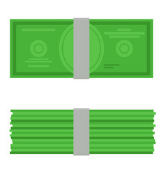 Money top and ront view vector