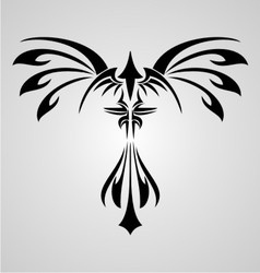 Phoenix Bird Tribal vector image