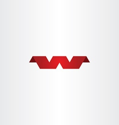 Red w logotype logo symbol letter w icon vector