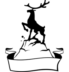 reindeer banner vector image vector image