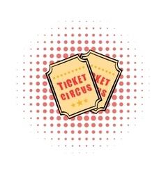 Ticket comics icon vector