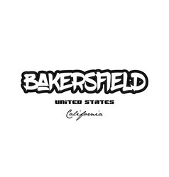 United states bakersfield california city vector