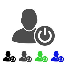 User log off flat icon vector