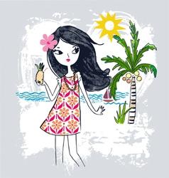 Summer Girl vector image