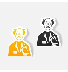 Realistic design element scientist vector