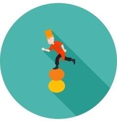 Walking on Balls vector image
