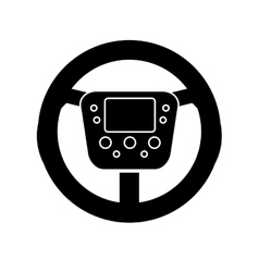 Isolated steering wheel design vector