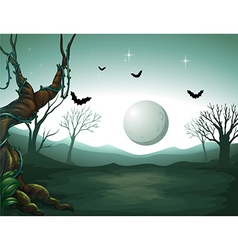 Night Graveyard Scene vector image