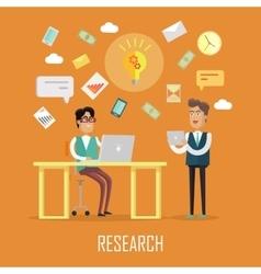 Teamwork research concept vector