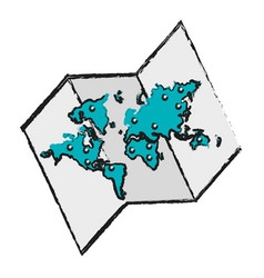 World map ico vector