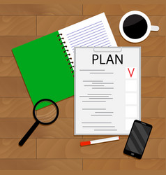 morning planning of day vector image