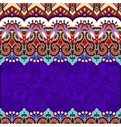 Ornamental floral folkloric violet background for vector
