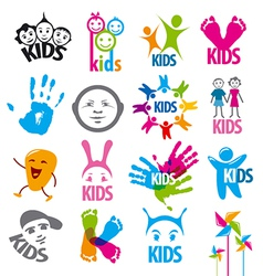 big set of logos children vector image