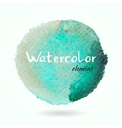 Watercolor green and brown element vector