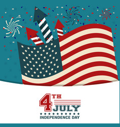 4th july independence day usa flag confetti vector image vector image