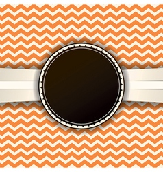 Orange Chevron Badge and Pattern vector image