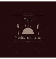 Restaurant menu label brochure design element with vector