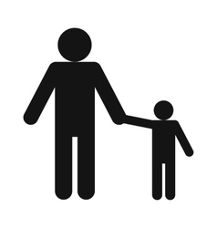 Man and children icon vector