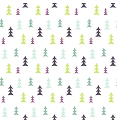 Abstract multicolor pine forest seamless pattern vector
