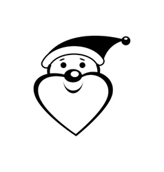 Santa clause icon vector