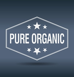 Pure organic hexagonal white vintage retro style vector