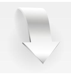 Arrow white banner vector