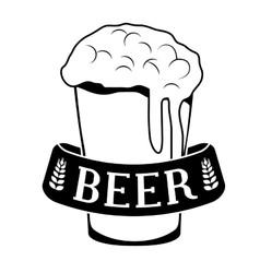 Black glass beer icon image design vector