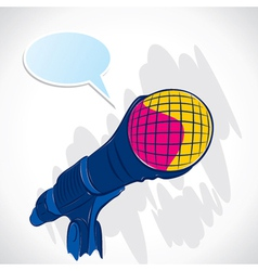 colorful microphone vector image