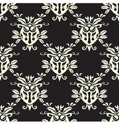 Damask seamless silk vector image