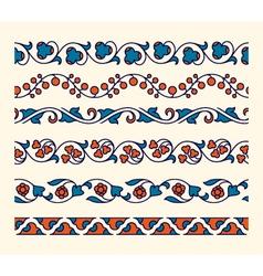 Decorative ornamental seamless borders vector image vector image