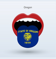 Electoral vote of oregon abstract mouth vector