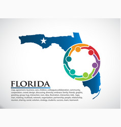 Florida organization community people vector
